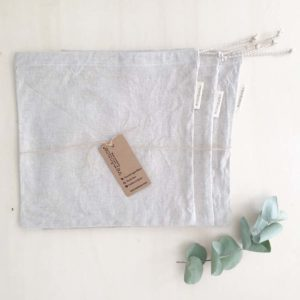 3 large recycled cotton produce bags by verdonce