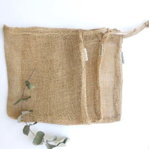 Large natural fibre jute produce bags by verdonce