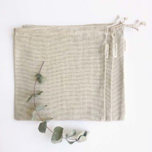 Set of natural cotton and linen produce bags by verdonce