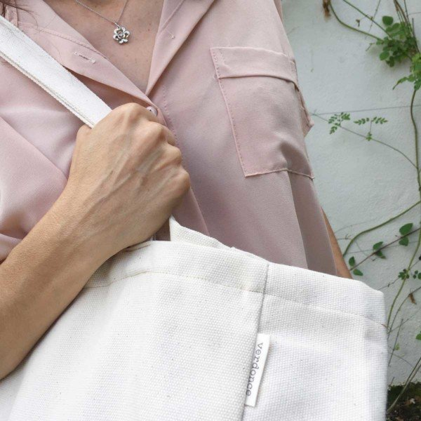 Close up of Verdonce Minimalist Canvas Tote bag