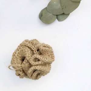 Natural jute bathroom sponge