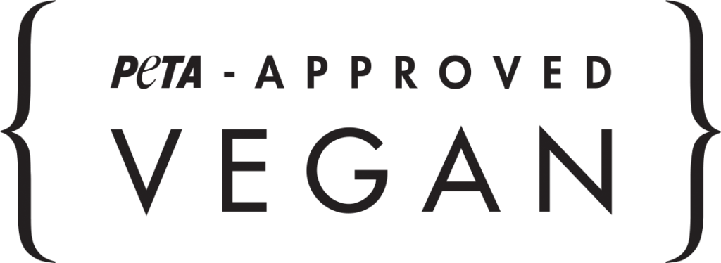 PETA approved vegan logo in black