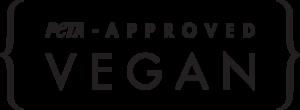 PETA approved vegan logo in black