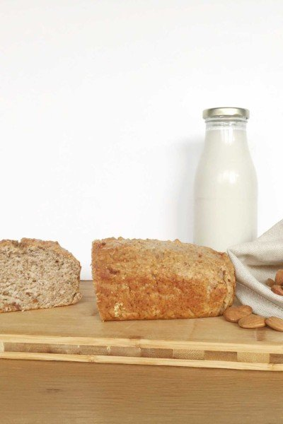 Recycle almond pulp into a tasty zero waste vegan banana & almond loaf