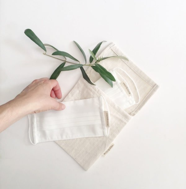 Recycled cotton essentials bag and Verdonce face masks