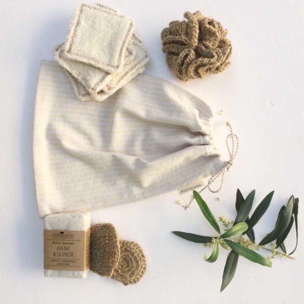 contents of the verdonce vegan skincare kit