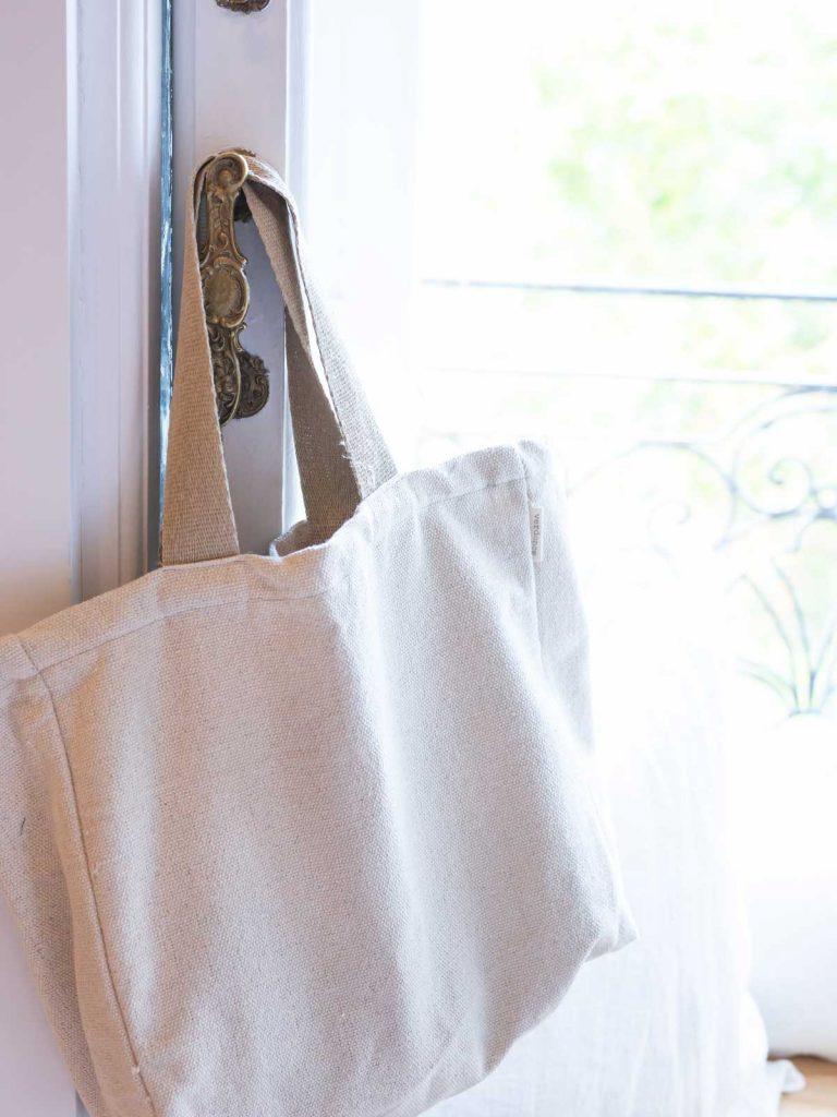 Verdonce bag hanging on window