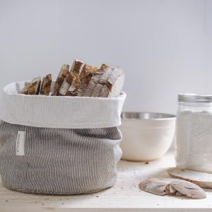 Verdonce recycled cotton basket with bread in kitchen in olive grove natural colour