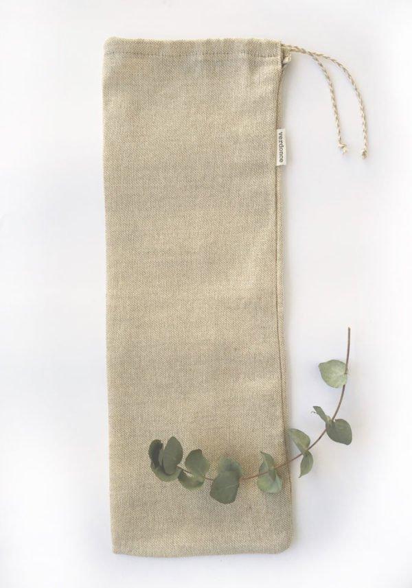 Bolsa reutilizable de algodón y lino