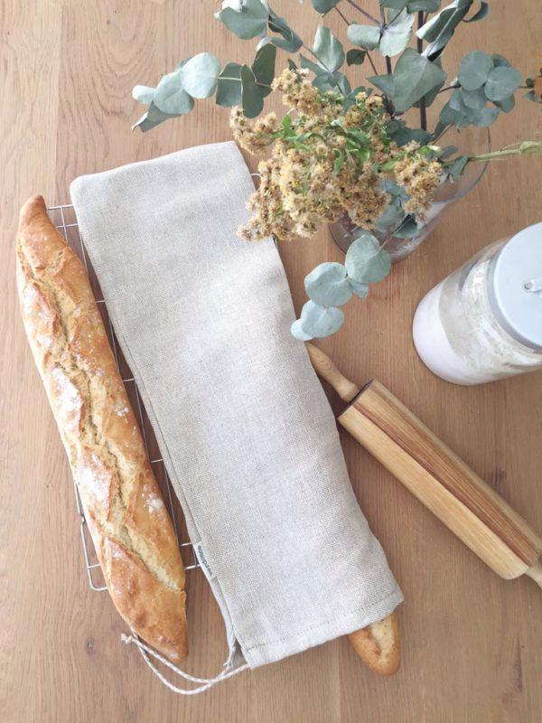 Bolsa de pan reutilizable con barra de pan