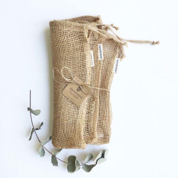 pack de 3 bolsas de fibra de yute grandes para la compra a granel