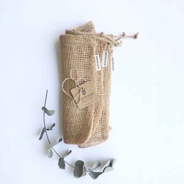 bolsas de compra a granel de tela de yute natural de Verdonce