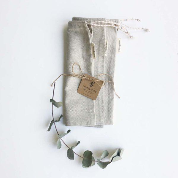 Pack de 3 bolsas para la compra a granel sin uso del plastico
