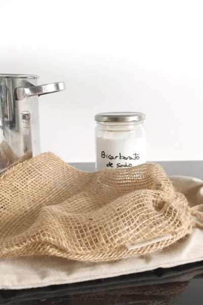 Bolsas reutilizables de tela con bicarbonato de sodio