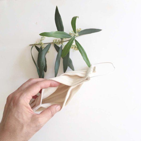Bolsillo para filtro en mascarilla de algodón reciclado