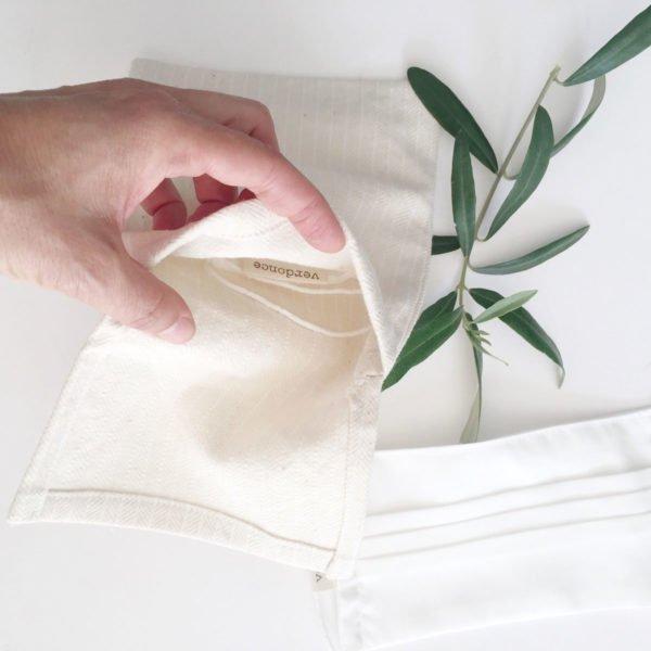 Bolsa de tela multiusos Verdonce con mano abriendo