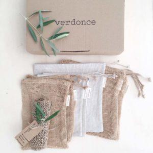 pack de bolsas de compra zero waste para la cocina
