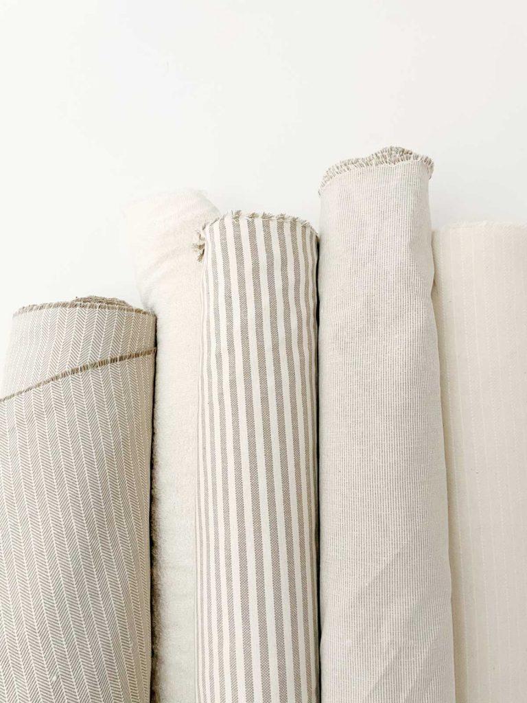 Rollos de algodón reciclado taller Verdonce